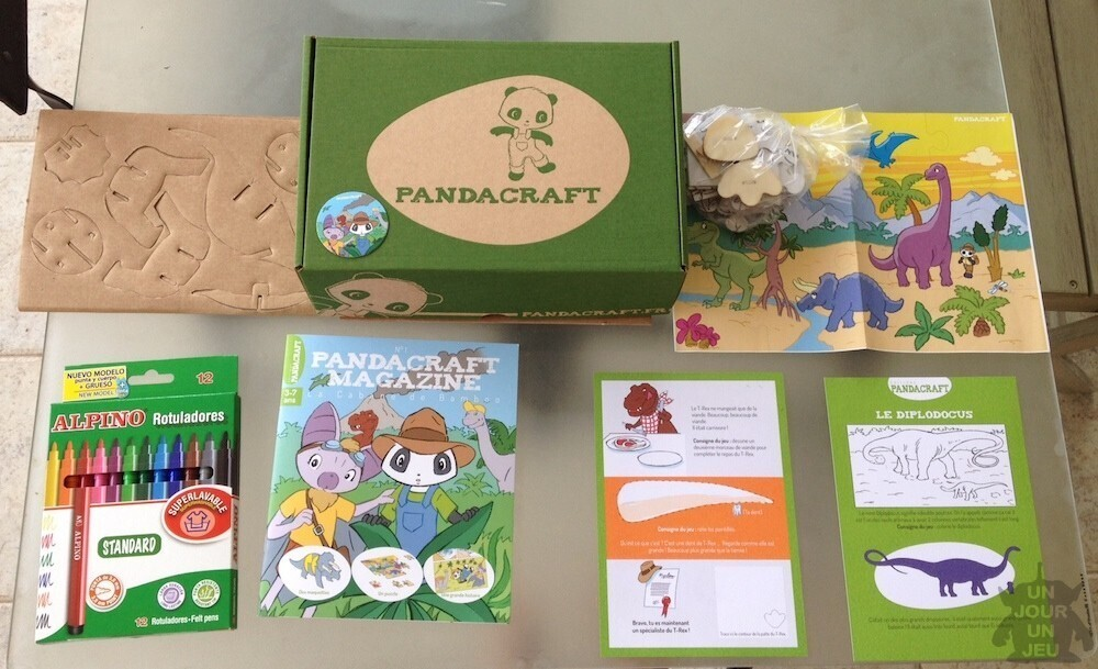 box pandacraft dinosaures