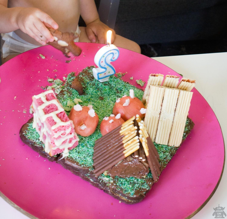 gâteau d u0027anniversaire les 3 petits cochons et le grand méchant loup