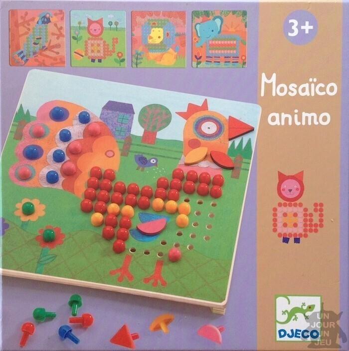 Fabulous Mosaïco animo : 8 tableaux d'animaux à réaliser avec des pions de  AL14