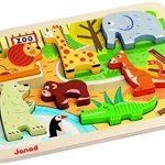 Janod-07022-Puzzle-en-Bois-Chunky-Puzzle-Zoo-0