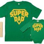 SR-SuperDad-SuperBaby-Ensemble-de-pour-Pre-et-bb-Vert-XXL-6-12-mois-0