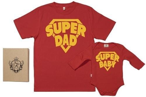 Cadeau naissance : coffret t-shirt body papa et bébé