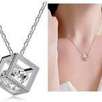 Argent-Swarovski-Elements-Cristal-Diamant-cube-Pendentif-Collier-pour-Femme-EnfantsCoffrets-Cadeau-Blanc-Modle-X20952-0