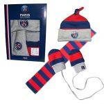 Coffret-naissance-bb-garon-PSG-Collection-officielle-PARIS-SAINT-GERMAIN-Echarpe-bonnet-Gants-Taille-jusqu-36-mois-0