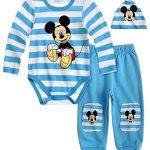 Disney-Mickey-Body-pour-bb-avec-pantalon-et-capuche-bleu-12-mois-0
