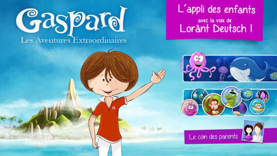 Application les Aventures de Gaspard