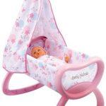 Smoby-24015-Poupe-et-Mini-Poupe-Baby-Nurse-Bercelonnette-0