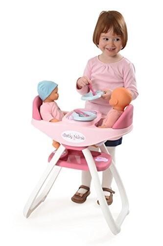 Chaise haute pour 2 poupées
