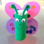 Papillon diy rouleau de papier toilette