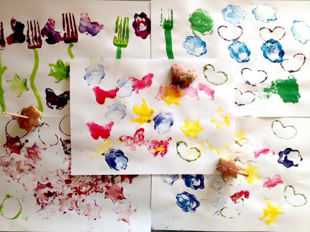Activité créative : les tampons pomme de terre
