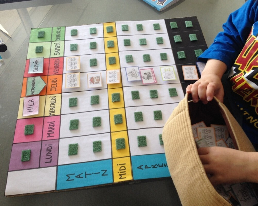 expliquer le temps aux enfants 2 le semainier un jour un jeu. Black Bedroom Furniture Sets. Home Design Ideas