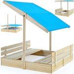 Bac--sable-120x120-avec-pare-soleil-et-bancs-intgrs-jeux-enfants-0
