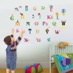 Walplus-WS3012-Stickers-muraux-pour-chambre-denfant-Lettres-de-lalphabet-0