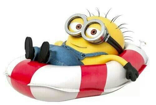 Minion allongé
