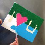 Fete des mères peinture I love you, le bleu