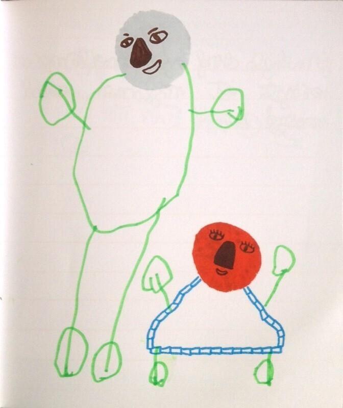 Cahier de gribouilles bonhommes