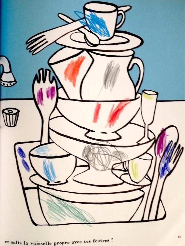 Ma cuisine à dessiner, vaisselle sale