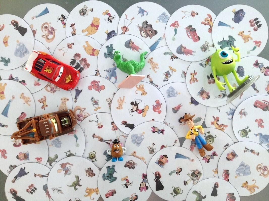 Cartes Jeu des Doubles Disney