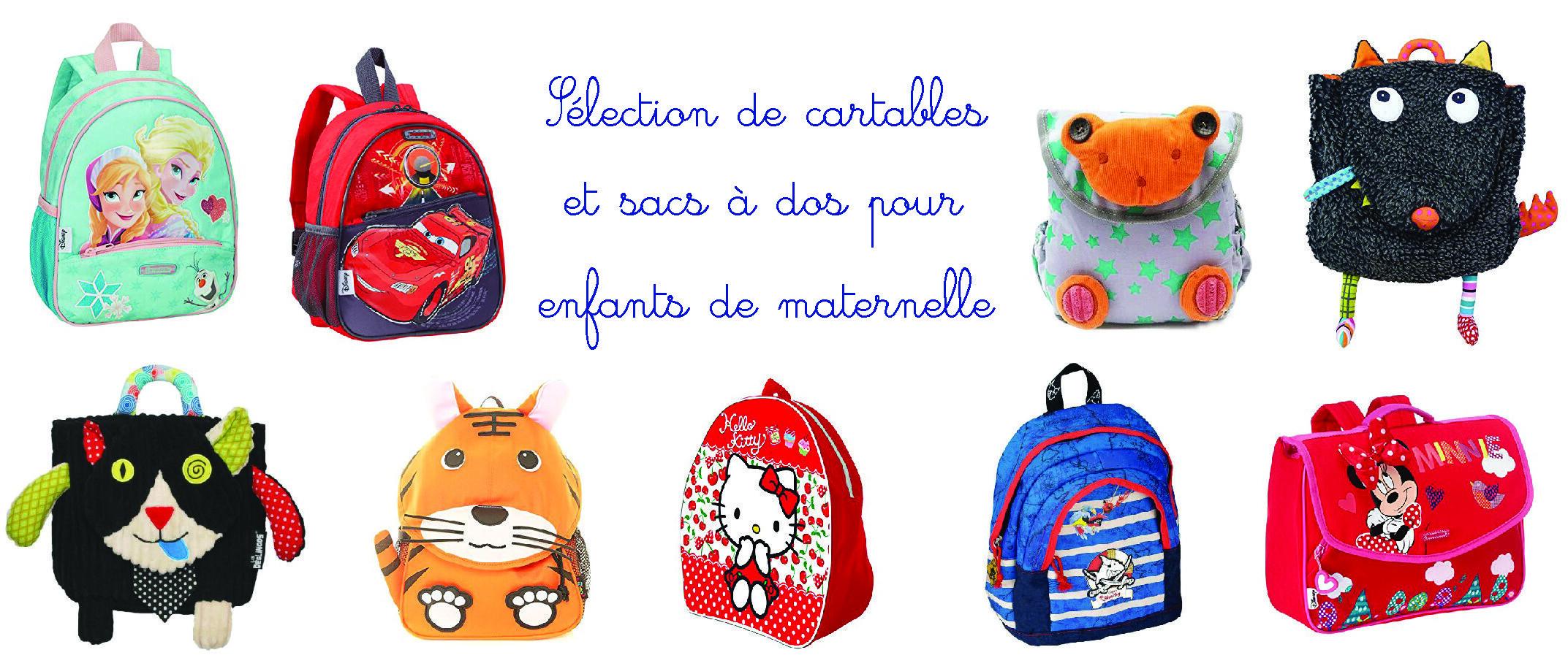 cartable et sac à dos enfant maternelle