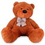 Lumaland-peluche-geant-XXL-nounours-teddybear-marron-120-cm-0