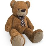 Nounours-peluche-ours-gant-XXL-Teddy-Bear-100cm-brun-0