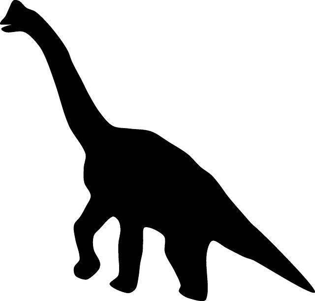silhouette dinosaure