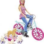 Barbie-Cld94-Poupe-Mannequin-Barbie-A-Vlo-Avec-Ses-Chiens-0