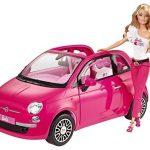 Barbie-Y6857-Accessoire-Poupe-Voiture-Fiat-500-Rose-0