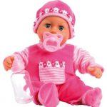 Bayer-Design-93800-pink-Poupon-Bb-Premiers-Mots-Avec-24-Sons-Rose-38-Cm-0
