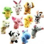Cheri-Lot-de-10-Assortiment-marionnette--doigt-animales-Peluche-doudoune-Jouets-pour-enfants-Bb-0