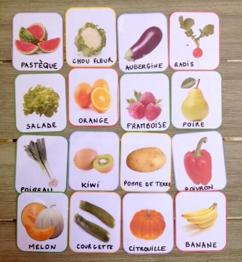 Loto des fruits et des légumes à imprimer