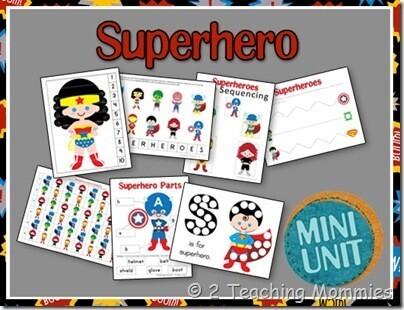 Super héros mini kit