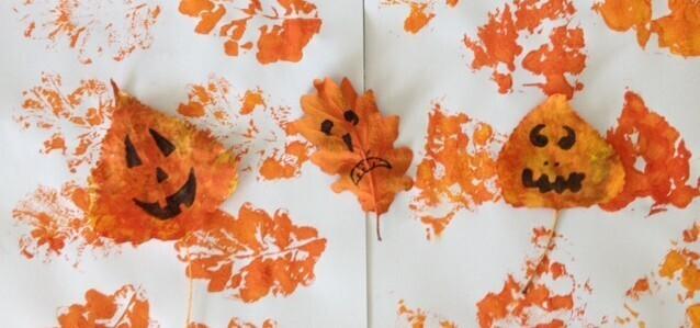 Halloween diy feuilles d'automne