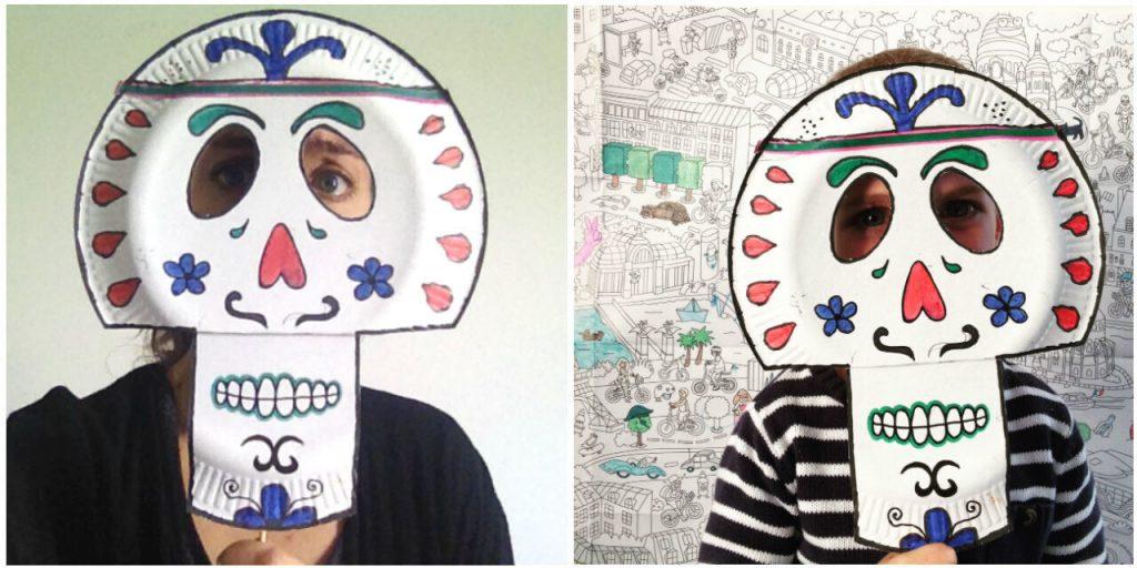 Diy Halloween tête de mort mexicaine
