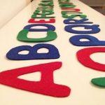 alphabet en feutrine