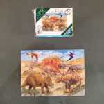 busy bag mini puzzle dinos