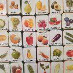 cartes de nomenclature fruits et legumes