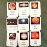 cartes de nomenclature planètes