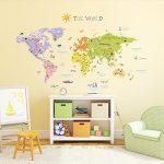 Decowall-DMT-1306-Les-dcalcomanies-Carte-du-monde-autocollants-de-mur-mur-transferts-tatouages-muraux-mur-0