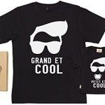 SR-Grand-et-Cool-Petit-et-Cool-Ensemble-de-T-shirts-pour-Pre-et-bb-0