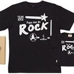 SR-Papa-star-de-Rock-Ensemble-de-T-shirts-pour-Pre-et-bb-0