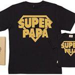 SR-Super-Papa-Super-Fille-Ensemble-de-T-shirts-pour-Pre-et-bb-0