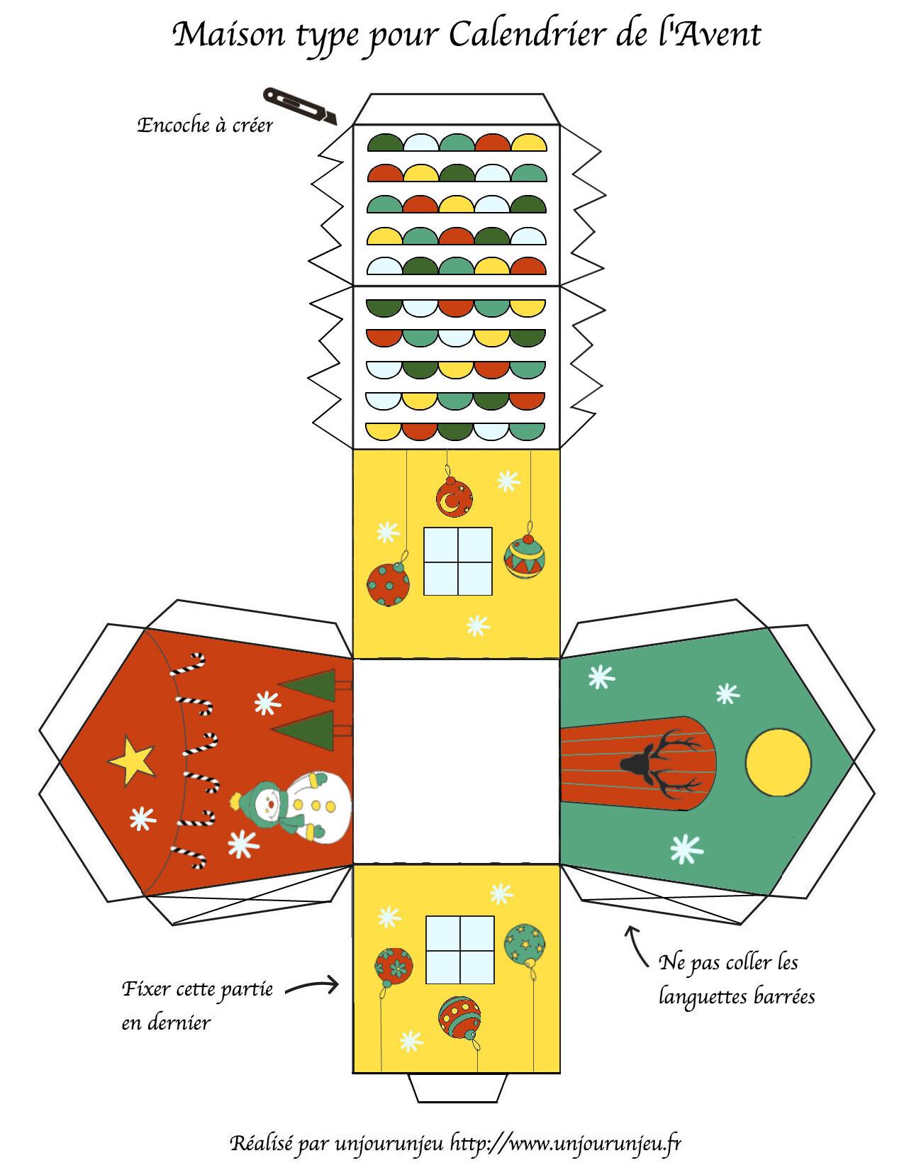 petites maisons de l avent imprimer gratuitement un. Black Bedroom Furniture Sets. Home Design Ideas
