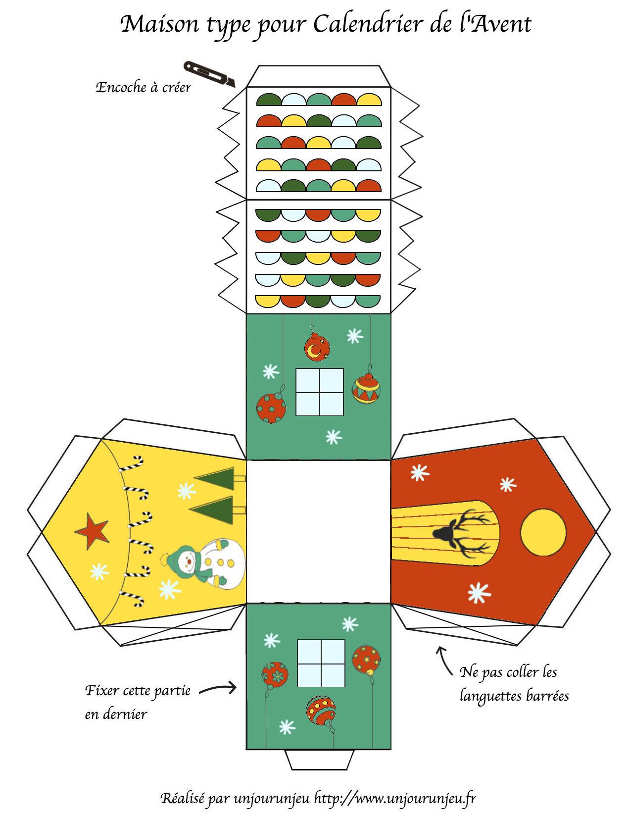 petites maisons de l avent imprimer gratuitement un jour un jeu. Black Bedroom Furniture Sets. Home Design Ideas