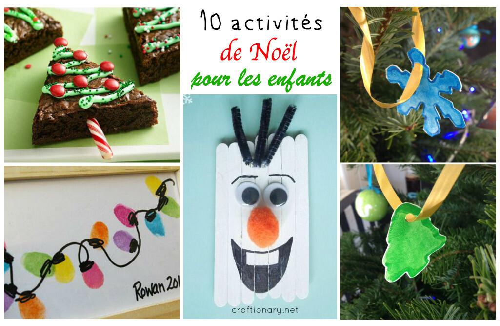Faire Des Decorations De Noel Enfant