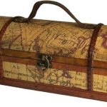 Bote--vin-style-antique-coffret--vin-design-Carte-du-Monde-33-x-12-x-11-cm-0