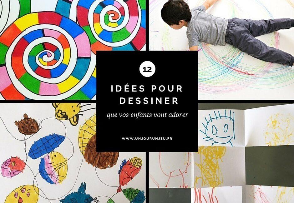 12 idées pour dessiner enfants