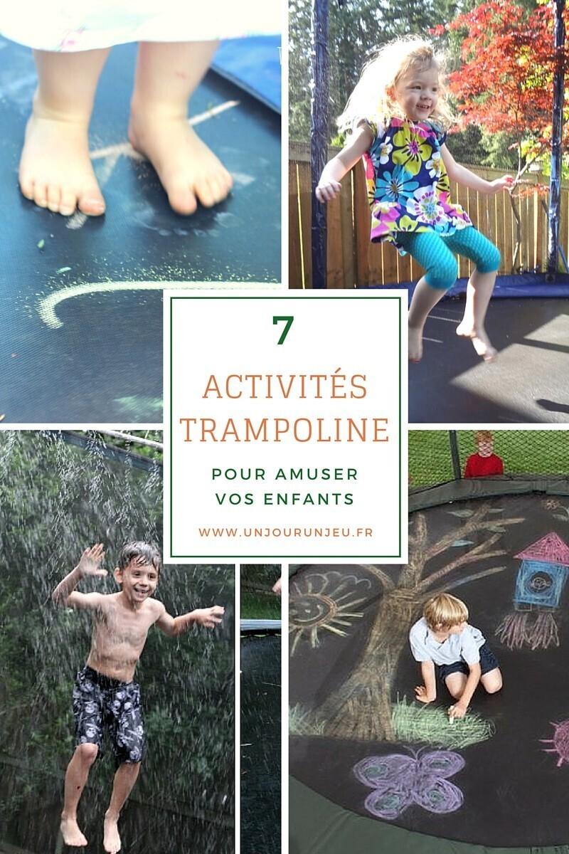 activités sur un trampoline