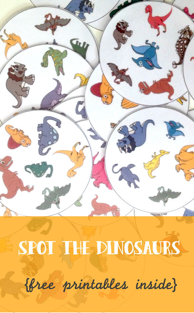 Spot the dinosaurs pinterest