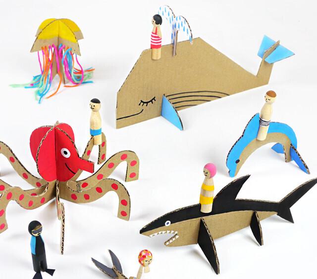 Souvent 15 idées de jeux à réaliser pour vos enfants avec du carton NO07